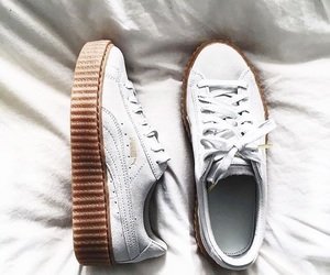 shoes, white, and puma image