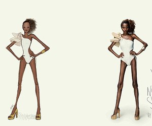 anorexia, eating disorder, and fashion image