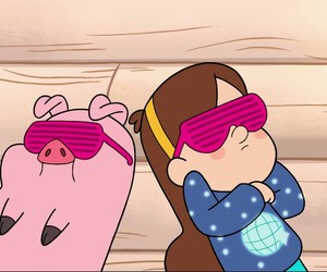 gravity falls, mabel, and pato image