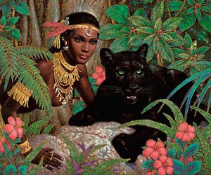 art, jungle, and painting image