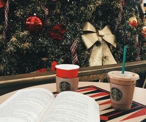 christmas, book, and starbucks image