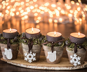 candles, pictures, and christmas pictures image
