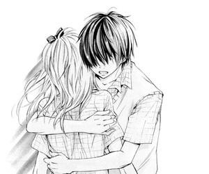 manga, hug, and love image
