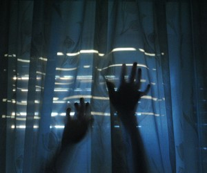 hands, blue, and grunge image