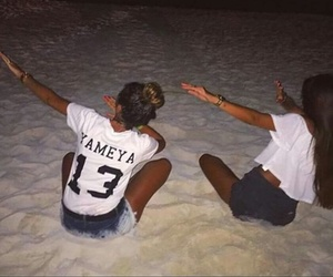 sister, plage, and dab image
