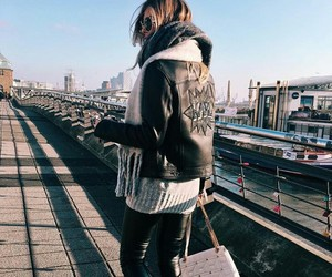 jacket, leather, and cute image