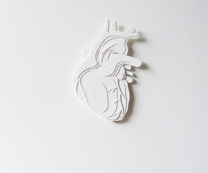 art, heart, and white image