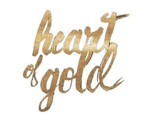 edit, gold, and heart image