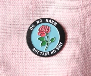 pink, rose, and pins image
