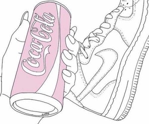 outline, art, and coca cola image