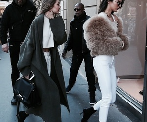 gigi hadid, kendall jenner, and fashion image