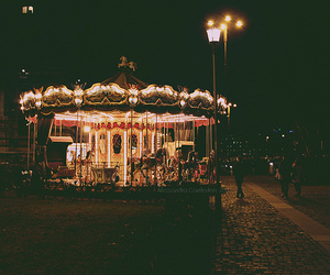 light, carousel, and night image