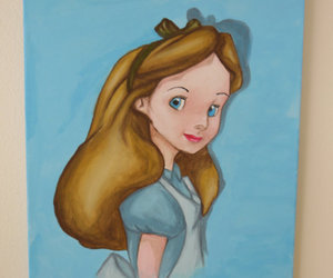 alice in wonderland, art, and painting image