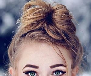hair, makeup, and eyes image