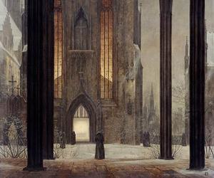 art, church, and romanticism image