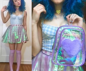 alternative, fashion, and holographic image