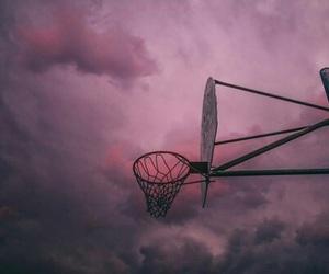 sky, Basketball, and pink image