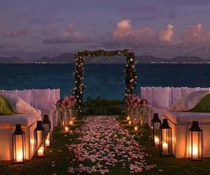 wedding, flowers, and beach image