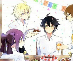 yaoi, seraph of the end, and mikayuu image