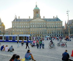 amsterdam, the netherlands, and royal palace image