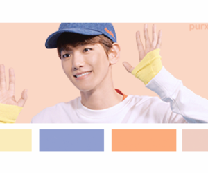 color palette, exo, and lay image