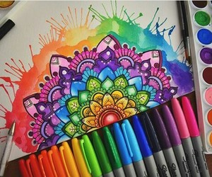 colors, art, and mandala image