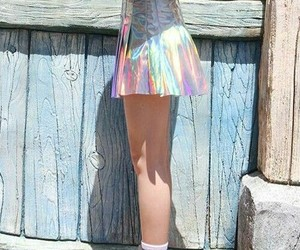 style, holographic, and skirt image