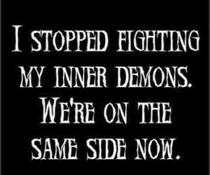 demon, quotes, and fight image