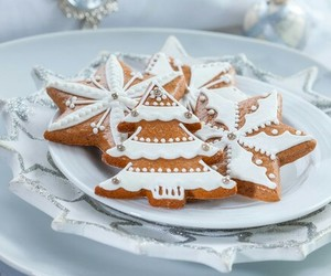 christmas, white, and Cookies image