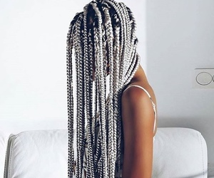 girl, fashion, and braids image