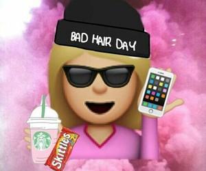 emoji, fancy, and pink image