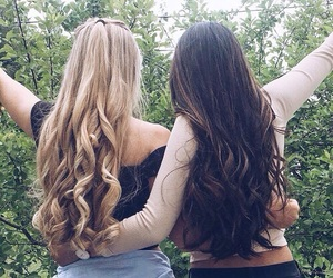 friends, curls, and hair image