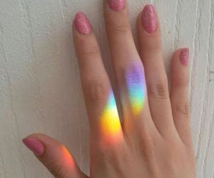 rainbow, colors, and girl image