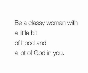 quote, classy, and god image