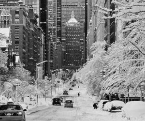 new york, snow, and nyc image