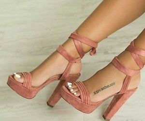 design, heels, and pink image