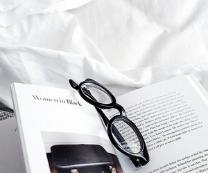 book, glasses, and magazine image