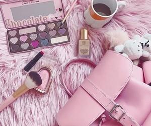 bags, makeup, and pink image