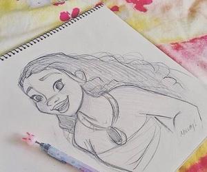beautiful, drawing, and moana image