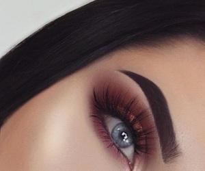 makeup, brows, and eye image