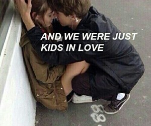 love, kids, and grunge image