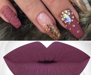 nail art, nails, and matte nails image