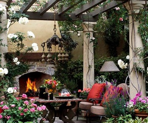 beautiful, patio, and container garden image