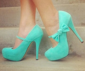 clothes, heels, and mintgreen image