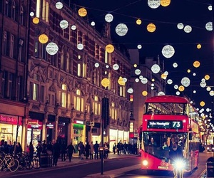 christmas, lights, and london image