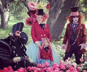 alice in wonderland, clip, and flowers image