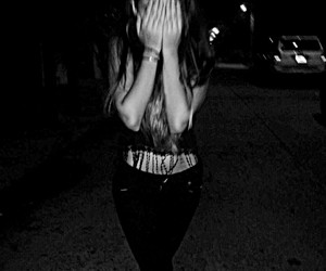 darkness grunge girl cry image