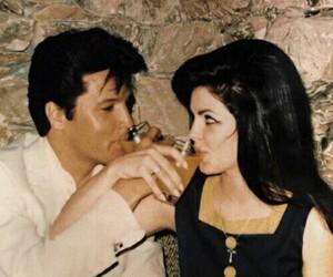 priscilla presley, Elvis Presley, and vintage image