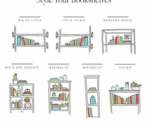 book, bookshelf, and style image