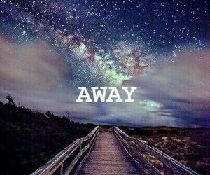away, stars, and sky image